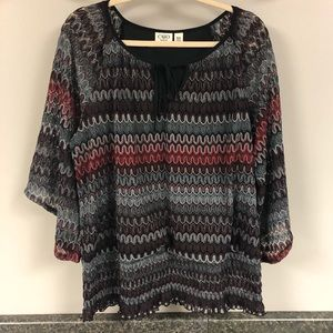 Cato lined top with shimmer 1x 18/20W